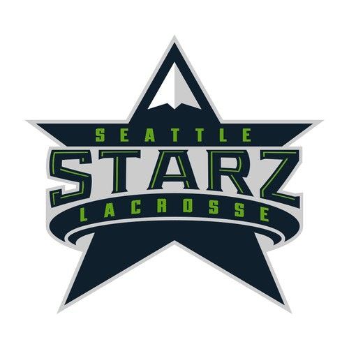 Lacrosse logo with the title 'Seattle Starz Mountain'