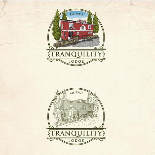 Artist logo with the title 'Tranquility Lodge illustrator logo design'