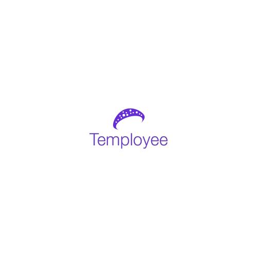 Mushroom logo with the title 'Mushroom logo concept for temployee'