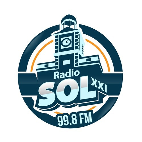 Radio logo with the title 'New logo of a local radio station in Madrid (Spain)'