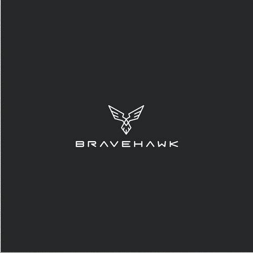 Power logo with the title 'Modern  & Masculine Bravehawk Logo'