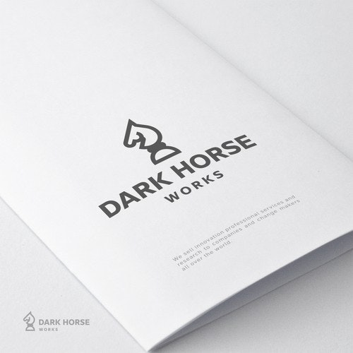 Horse logo with the title 'Dark horse'