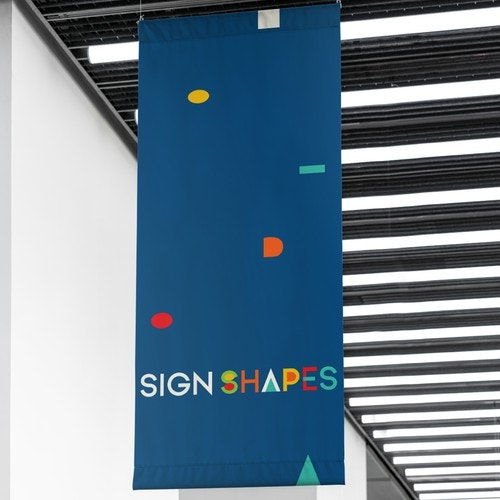 Colorful logo with the title 'Logotype for Sign and Exhibition System Business'