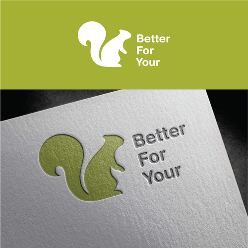 Squirrel logo with the title 'Logo Design For betterforyour.com '