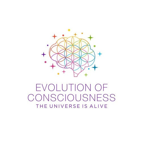 Brain logo with the title 'Evolution of Consciousness'
