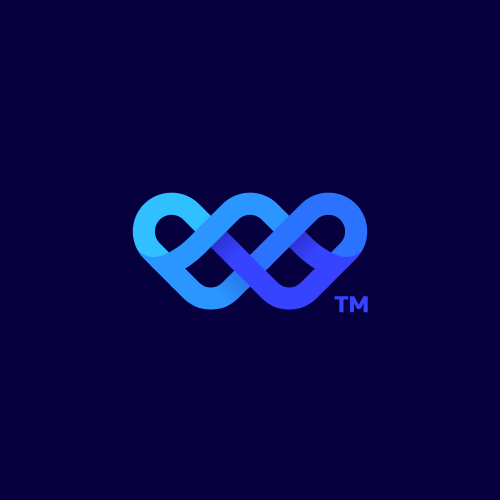 Wave logo with the title 'Letter W Logo'