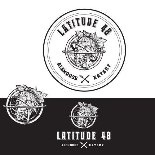 Hops logo with the title 'logo for Latitude 48'