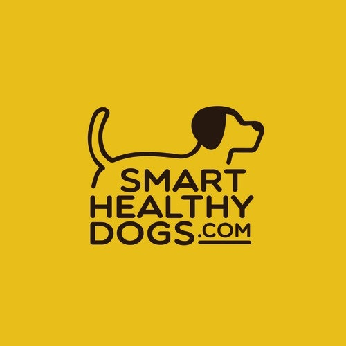 Dog logo with the title 'Smart healthy Dogs'