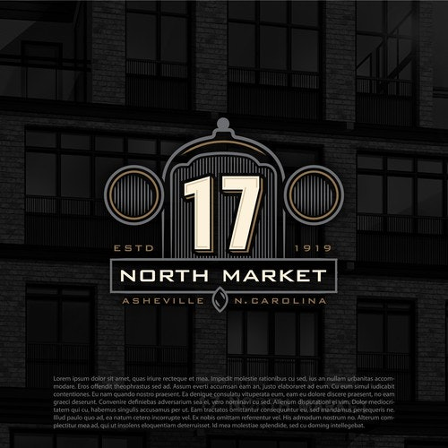 Number logo with the title 'North market'