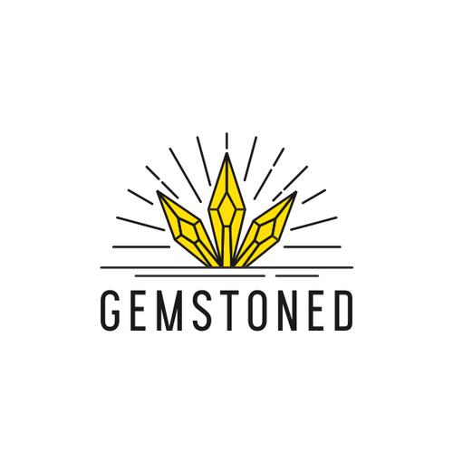 Gem logo with the title 'Gemstone logo'