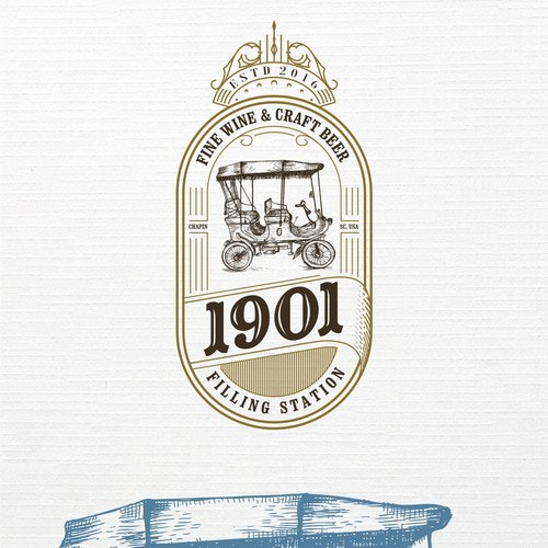 Pencil logo with the title '1901 logo design'