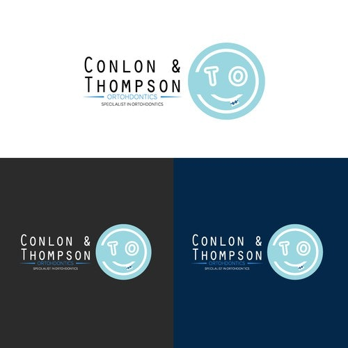 Orthodontist logo with the title 'smile logo'