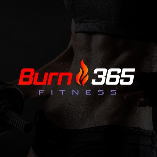 Burning logo with the title 'Burn365 Fitness'