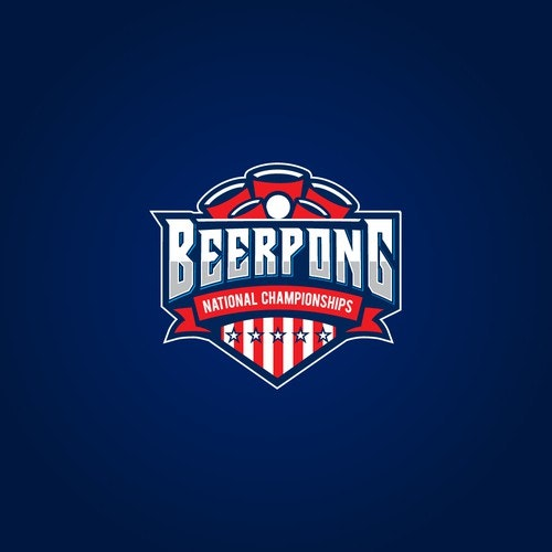 Championship logo with the title 'Beer Pong National Championships'