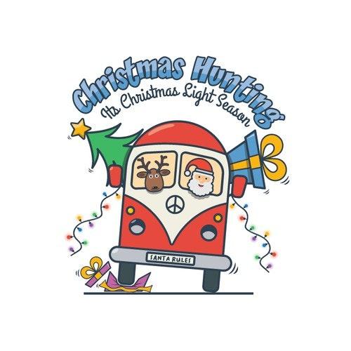 Christmas logo with the title 'Christmas Hunting'