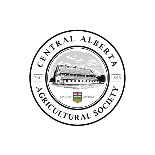 Barn logo with the title 'Vintage logo for Agricultural Society'