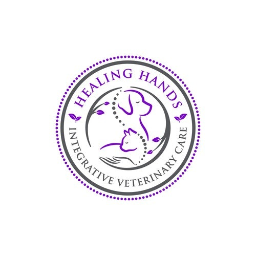 Hand logo with the title 'Healing Hands Integrative Veterinary Care'