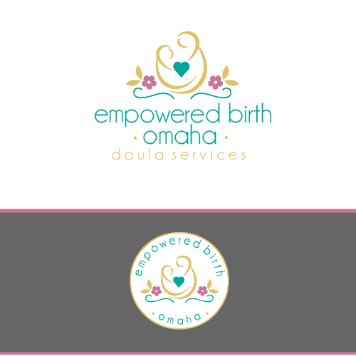 Pregnancy logo with the title 'Empowered Birth- Omaha'