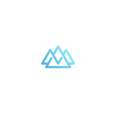Triangle logo with the title 'Rockmount Medical Solutions logo proposal'