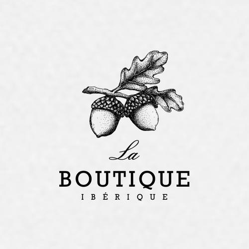 Acorn logo with the title 'La Boutique Ibérique'