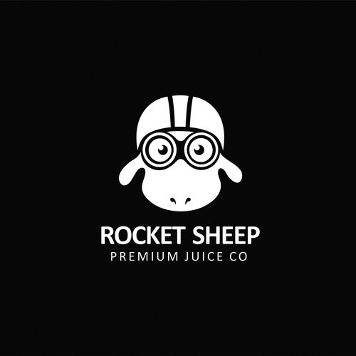 Helmet logo with the title 'Create a secondary logo that can be used for our e-juice brand merchandise'