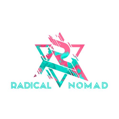 Nomad logo with the title 'Radical Nomad Logo Design'