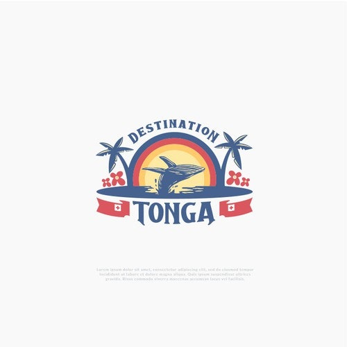 Sunset logo with the title 'Classic logo for travel agency'