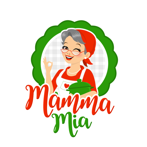 Italian logo with the title 'Character Logo for an italian Restaurant'