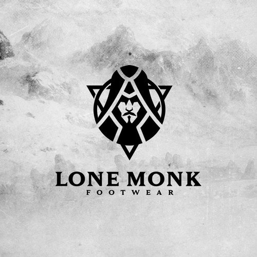 Running logo with the title 'Lone Monk Footwear'