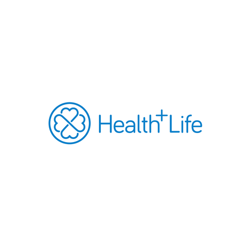 Blue logo with the title 'Health+Life Healthcare'
