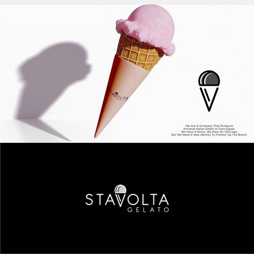 Gelato logo with the title 'Stavolta Gelato'