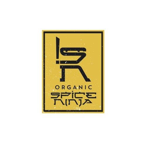 Spice logo with the title 'Organic Spice Ninja'