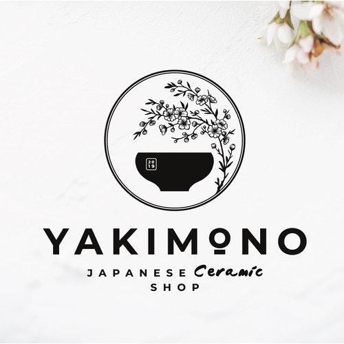 Elegant logo with the title 'JAPANESE CERAMIC SHOP✨'
