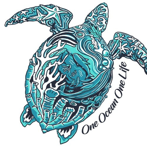 Sea t-shirt with the title 'One ocean one life t-shirt'