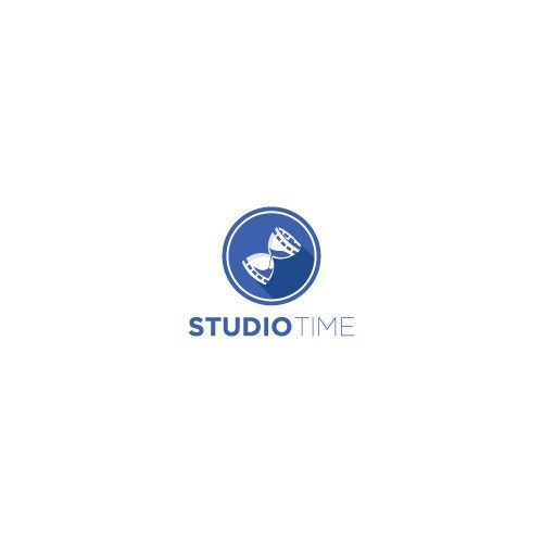 Hourglass logo with the title 'Studio Time Logo Design'