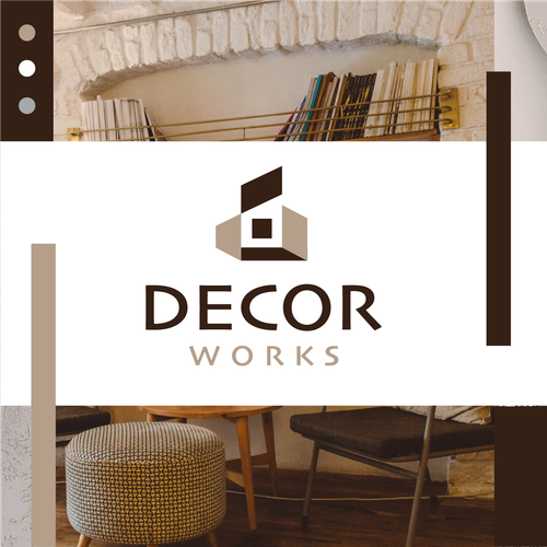 Home decor logo with the title 'Decor Works'