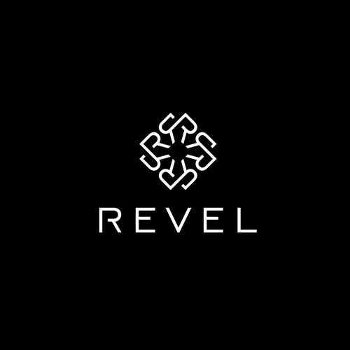 Brand logo with the title 'REVEL'
