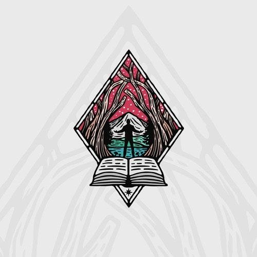Nature logo with the title 'Galdr Studio Logo Design'