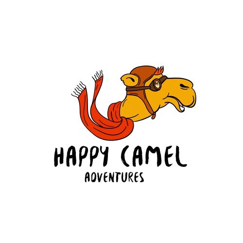 Camel logo with the title 'Happy Camel Adventures'