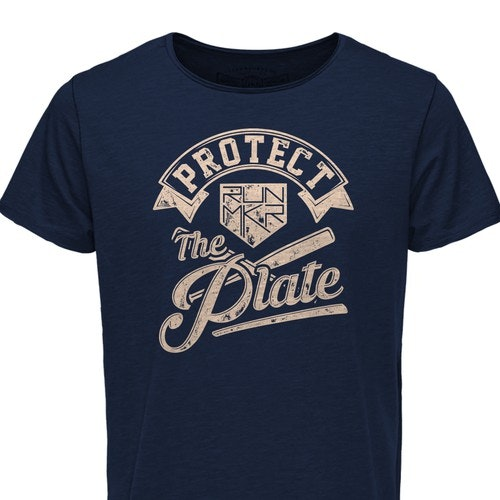Baseball t-shirt with the title 'Protec the plate'