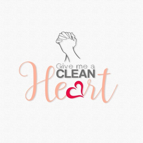 Grey t-shirt with the title 'Entry for Tshirt Design, Give me a Clean Heart'