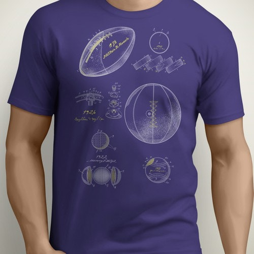 Football t-shirt with the title 'Sport Patents'