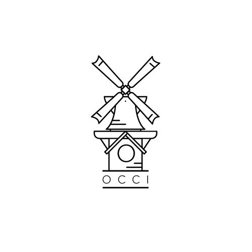 Windmill logo with the title 'Windmill Logo Redesign on white'