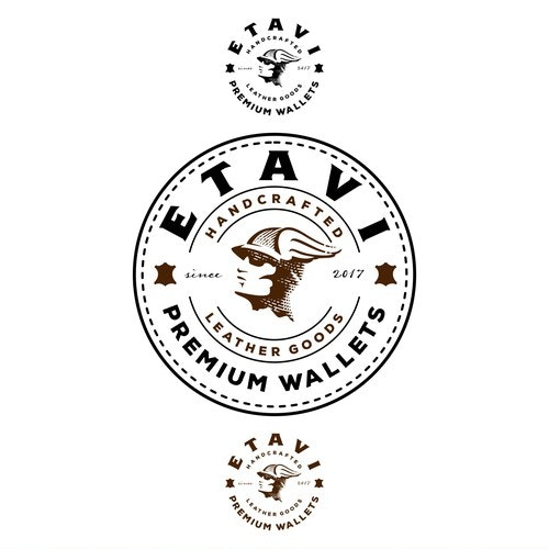 Handmade logo with the title 'ETAVI emblem design'