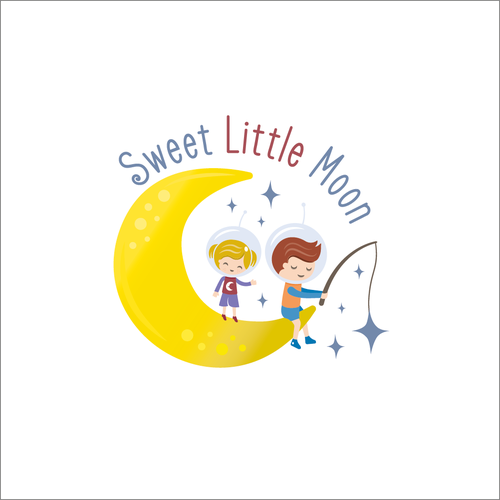 Quirky logo with the title 'Sweet Little Moon'