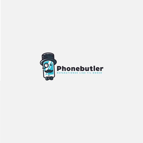Phone logo with the title 'Logo Concept for Mobile phone repairs'