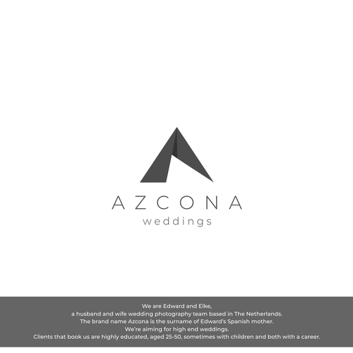 Watermark logo with the title 'logo azcona , logo for potographic watermarks, client originating from Netherland'