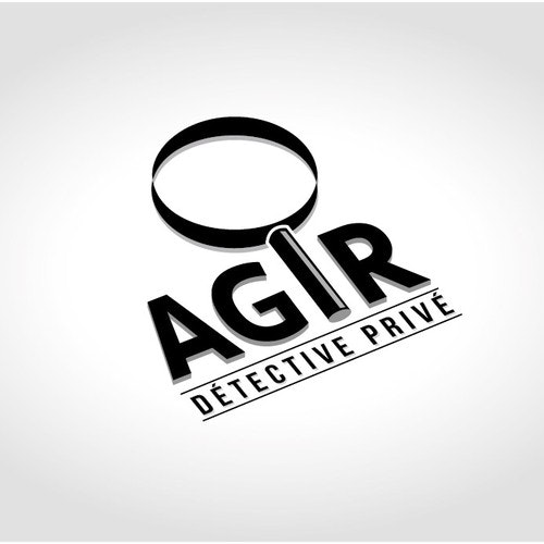 Detective logo with the title 'AGIR'