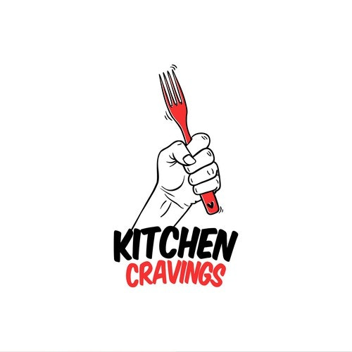 Fork logo with the title 'Kitchen Cravings'