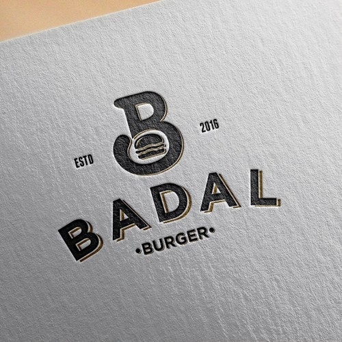 Pizza logo with the title 'Logo for BADAL BURGER'